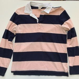 Pink & Navy rugby shirt